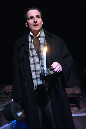 Travel back to Victorian England and into the heart of this classic morality tale, as Paul Morella performs A CHRISTMAS CAROL: A GHOST STORY OF CHRISTMAS to Olney Theatre Center. (Photo by Stan Barouh)