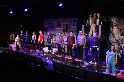 """We're Coming Home Again,"" in New Line Theatre's AMERICAN IDIOT, final dress rehearsal. Photo credit: Jill Ritter Lindberg."