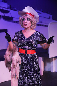 Sarah Porter as Reno Sweeney, in ANYTHING GOES, New Line Theatre, 2018. Photo credit: Jill Ritter Lindberg.