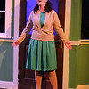 "Ann Hier as Trude Weiss, singing ""Headlights,"" in New Line Theatre's ATOMIC. Photo credit: Jill Ritter Lindberg."