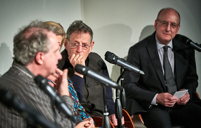 Oct. 16,  2019 - New York, NY   The Guggenheim Museum's Works and Process series presents The Metropolitan Opera: Akhnaten by Philip Glass  Prior to its Metropolitan Opera premiere, General Manager Peter Gelb moderates a discussion with the creative team and countertenor Anthony Roth Costanzo, who plays the title role of the revolutionary ancient Egyptian pharaoh. Highlights are performed by members of the cast. Originally presented in collaboration with Improbable by the LA Opera and English National Opera, this production received the 2017 Olivier Award for Best New Opera Production.  Guests- Peter Gelb, Philip Glass,Karen Kamensek,Phelim McDermott,Sean Gandini, Anthony Roth Costanzo, J'Nai Bridges, Jonathan C. Kelly  Photographer- Robert Altman Post-production- Robert Altman