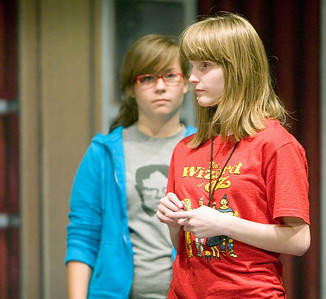 "Performers rehearse for the play ""Annie Jr."" at Sycamore High School on Thursday, September 16, 2010."