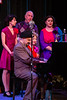 "Standing: Alyssa Longoria (Lana Sherwood), David Bodin (Freddie Filmore), Victoria Schindler (Laurie Sherwood), Sitting: Jimmy Garcia (Harry ""Jazzbo"" Heywood), Susannah Mars (Sally Applewhite)"