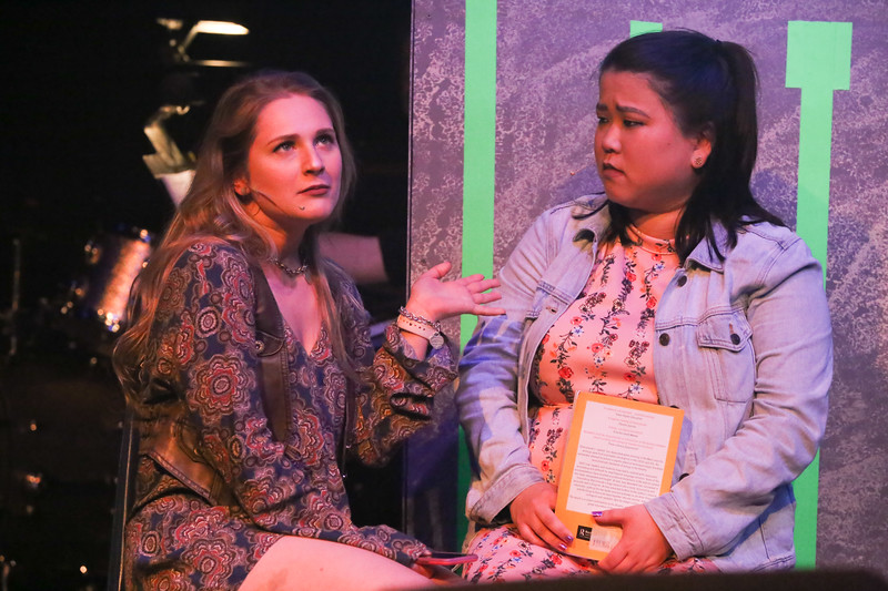 Chloe (Laura Renfro) and Christine (Grace Langford) in BE MORE CHILL, New Line Theatre, 2019. Photo credit: Jill Ritter Lindberg.