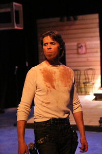 """John Sparger as Andrew Jackson in New Line Theatre's """"Bloody Bloody Andrew Jackson,"""" 2012. Photo credit: Jill Ritter Lindberg."""