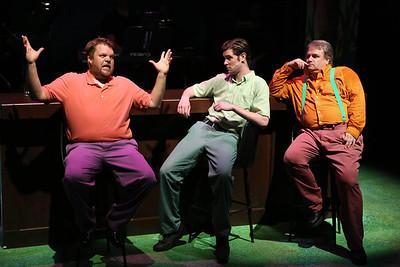 "Nicholas Kelly, Ryan Foizey, and Joel Hackbarth as three hipsters, in New Line Theatre's ""Bukowsical,"" 2013. Photo credit: Jill Ritter Lindberg"