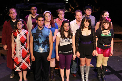 "The cast of New Line Theatre's ""bare."" Photo credit: Jill Ritter"
