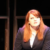 """Nadia (Charlotte Byrd) sings """"A Quiet Night at Home,"""" in New Line Theatre's <i>bare</i>. Photo credit: Jill Ritter"""