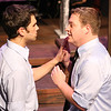 """Jason (Jacob Golliher) and Peter (Mike Dowdy) rehearse a scene from """"Romeo and Juliet,"""" in New Line Theatre's """"bare."""" Photo credit: Jill Ritter"""