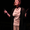 "Claire (Alison Helmer) singing ""Warning"" in New Line Theatre's ""bare."" Photo credit: Jill Ritter"