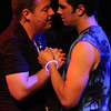 """Peter (Mike Dowdy) and Jason (Jacob Golliher) sing """"Best Kept Secret"""" in New Line Theatre's <i>bare</i>. Photo credit: Jill Ritter"""