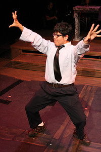 "Rahamses Galvan as Lucas in New Line Theatre's ""bare."" Photo credit: Jill Ritter"