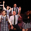 """The cast of New Line Theatre's """"bare,"""" singing """"Wedding Bells."""" Photo credit: Jill Ritter"""