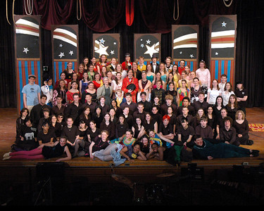 "Barnum Cast and Crew photo, cropped for 8"" x 10"""