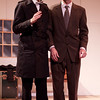 Damis (Sam Illingworth) discusses his father's madness with Cleante (Brian Berdanier).<br /> <br /> Photo by Suzy Walker