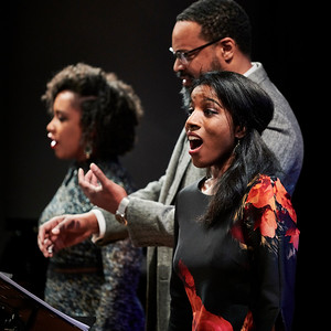 Feb. 11, 2019 - New York, NY - The Guggenheim Museum's Works and Process series presents The Glimmerglass Festival: Blue by Jeanine Tesori and Tazewell Thompson. Blue centers on the hopes and fears of a young black couple as they raise a son in 21st-century America. Prior to the world premiere, Glimmerglass Festival artistic and general director Francesca Zambello moderates a discussion with the work's creators, Jeanine Tesori and Tazewell Thompson, with members of the cast performing highlights from this new opera.  Aaron Crouch - The Son Ariana Douglas - The Nurse Briana Hunter - The Mother Kenneth Kellogg - The Father  Kevin Miller - Pianist  Photographer- Robert Altman Post-production- Robert Altman