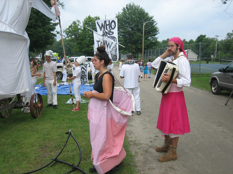Pinky's front, and her accordion accompanist