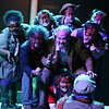 """The cast sings """"Survive,"""" in CELEBRATION, New Line Theatre, 2016. Photo credit: Jill Ritter Lindberg."""