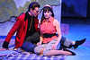 """Ryan Foizey as Wade """"Cry-Baby"""" Walker and Taylor Pietz as Allison Vernon-Williams, singing """"Girl, Can I Kiss You With Tongue?""""  in New Line Theatre's """"Cry-Baby."""" Photo credit: Jill Ritter Lindberg."""