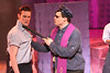 """Ryan Foizey as Wade """"Cry-Baby"""" Walker and Zachary Allen Farmer as Father Officer O'Brien, singing """"A Little Upset,"""" in New Line Theatre's """"Cry-Baby."""" Photo credit: Jill Ritter Lindberg."""