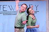 """Mike Dowdy as Baldwin Blandish and Terrie Carolan as Lenora Frigid, singing """"All in My Head,"""" in New Line Theatre's """"Cry-Baby."""" Photo credit: Jill Ritter Lindberg."""