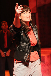 "Taylor Pietz as Allison Vernon-Williams, singing ""You Can't Beat the System,"" in New Line Theatre's ""Cry-Baby."" Photo credit: Jill Ritter Lindberg."