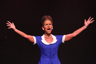 """Margeau Steinau as Mrs. Vernon-Williams, singing """"I Did Something Wrong Once"""" in CRY-BABY, New Line Theatre, 2019. Photo credit: Jill Ritter Lindberg."""