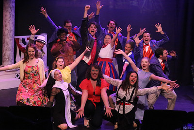 """The company singing """"Nothing Bad's Ever Gonna Happen Again"""" in CRY-BABY, New Line Theatre, 2019. Photo credit: Jill Ritter Lindberg."""