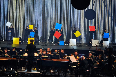 """Dress of """"De Materie"""" by Louis Andriessen at the Park Ave Armory"""