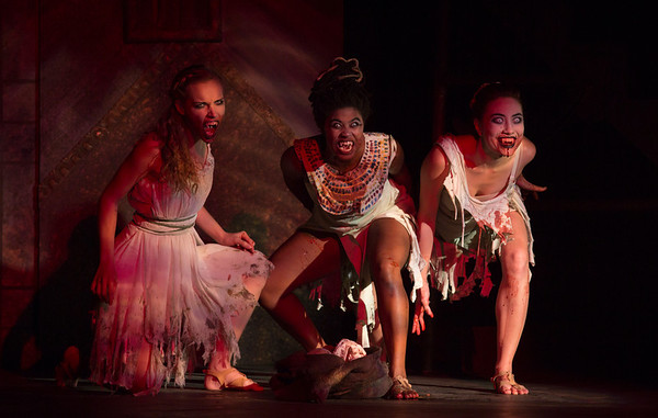 A scene from the Dracula production photo call with the ECU Theater.