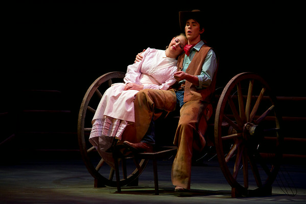 A scene from the production of Oklahoma by the ECU Theater.