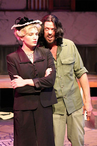 Taylor Pietz and John Sparger in New Line Theatre's EVITA. Photo credit: Jill Ritter