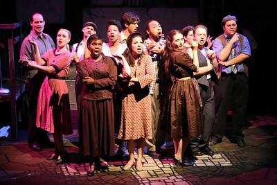 The company of New Line Theatre's EVITA. Photo credit: Jill Ritter