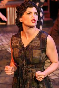 Taylor Pietz as the young Eva Duarte in New Line Theatre's EVITA. Photo credit: Jill Ritter
