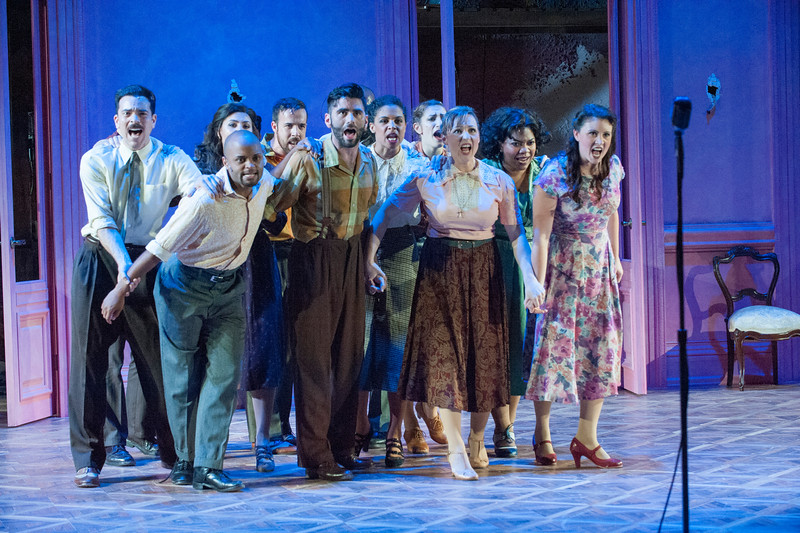 The ensemble of Olney Theatre Center's production of EVITA (Photo: Stan Barouh)