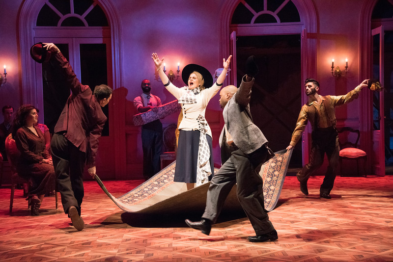 Rachel Zampelli as Eva and the cast of Olney Theatre Center's production of EVITA (Photo: Stan Barouh)