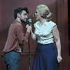 Robert Ariza as Che and Rachel Zampelli as Eva in Olney Theatre Center's production of EVITA (Photo: Stan Barouh)