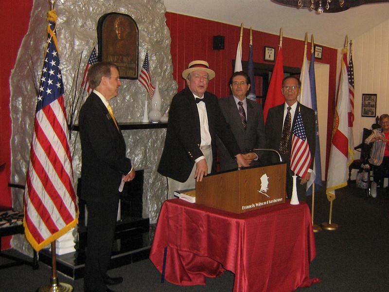 At the flag raising ceremony