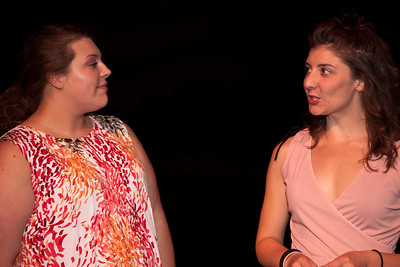 (R) Elise Edwards as Betty and Caitlin McCormick as June (L)