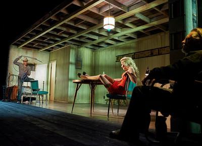 New York, New York - Sept. 13, 2015  Sam Rockwell, Nina Arianda, and Gordon Joseph Weiss in the Broadway production of Sam Shepard's play  Fool for Love , at the Manhattan Theater Club's Friedman Theater  Credit: Robert Altman