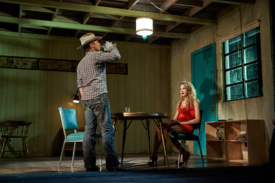 New York, New York - Sept. 13, 2015  Sam Rockwell and Nina Arianda in the Broadway production of Sam Shepard's play  Fool for Love , at the Manhattan Theater Club's Friedman Theater  Credit: Robert Altman