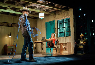 New York, New York - Sept. 13, 2015  Sam Rockwell ,Nina Arianda, and Gordon Joseph Weiss  in the Broadway production of Sam Shepard's play  Fool for Love , at the Manhattan Theater Club's Friedman Theater  Credit: Robert Altman