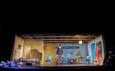 New York, New York - Sept. 13, 2015  Sam Rockwell, Tom Pelphrey,Nina Arianda, and Gordon Joseph Weiss  in the Broadway production of Sam Shepard's play  Fool for Love , at the Manhattan Theater Club's Friedman Theater  Credit: Robert Altman