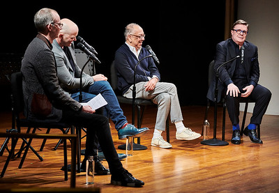 Feb. 18, 2019 - New York, NY - The Guggenheim Museum's Works and Process series presents Gary: A Sequel to Titus Andronicus by Taylor Mac with Nathan Lane, Andrea Martin, and George C. Wolfe.  Prior to the Broadway opening and world premiere of Pulitzer Prize finalist and MacArthur Fellow Taylor Mac's new comedy, three-time Tony Award–winning actor Nathan Lane performs highlights from the play and join five-time Tony Award–winning director George C. Wolfe and Mac for a moderated discussion  Photographer- Robert Altman Post-production- Robert Altman