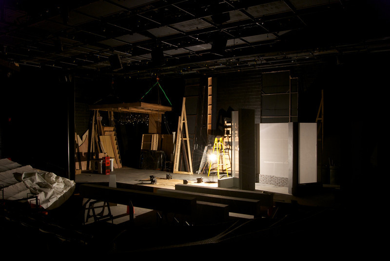 Court Theatre at the University of Chicago, 5535 South Ellis Avenue, Chicago, IL<br /> <br /> Changeover in progress to INVISIBLE MAN,<br /> Adapted for the stage by Oren Jacoby<br /> Based on the novel by Ralph Ellison<br /> Directed by Christopher McElroen<br /> January 12, 2012 – February 19, 2012<br /> <br /> Scenic design by Troy Hourie<br /> Lighting Design by John Culbert<br /> Projection Design by Alex Koch