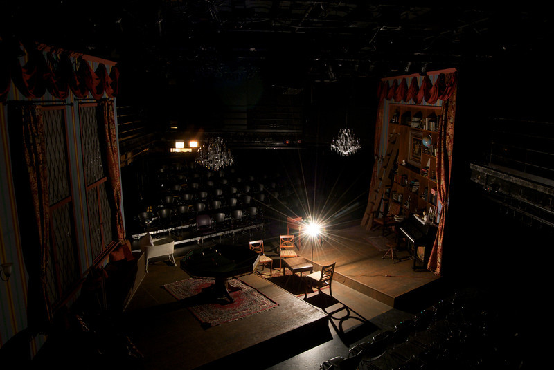 DCA Storefront Theatre, 66 E. Randolph, Chicago, IL<br /> <br /> Set design by Anders Jacobson and Judy Radovsky for Hideous Progeny, presented by LiveWire Chicago Theatre, Fall 2010