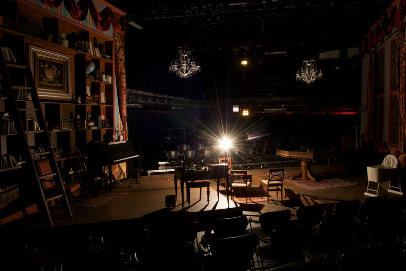 DCA Storefront Theatre, 66 E. Randolph, Chicago, IL<br /> <br /> Set design by Anders Jacobson and Judy Radovsky for Hideous Progeny, presented by LiveWire Chicago Theatre, Fall, 2010