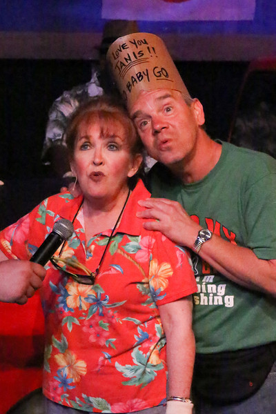 "Cindy Duggan as Janis Curtis and Keith Thompson as Don Curtis, singing ""If She Don't Sleep,"" in New Line Theatre's HANDS ON A HARDBODY, 2014. Photo credit: Jill Ritter Lindberg."