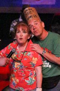 """Cindy Duggan as Janis Curtis and Keith Thompson as Don Curtis, singing """"If She Don't Sleep,"""" in New Line Theatre's HANDS ON A HARDBODY, 2014. Photo credit: Jill Ritter Lindberg."""
