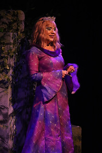 Carrie Wenos Priesmeyer as Queen Gynecia, in New Line Theatre's HEAD OVER HEELS, 2020. Photo credit: Jill Ritter Lindberg.